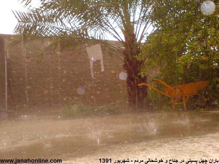 تعدادی از عکس های بارندگی دیروز در منطقه ی جناح و خوشحالی وصف ناشدنی مردم